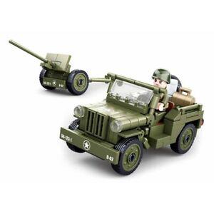 Lego WW2 Jeep Willys Armée Américaine Vehicule Combat Figurine ww2 war army toy