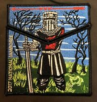 TAHOSA OA LODGE 383 DENVER AREA 2017 JAMBOREE MONTY PYTHON BLACK KNIGHT 2-PATCH