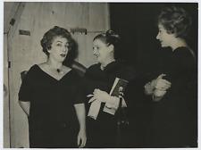 Zo Fontana, Andreina Pagnani, Lauretta Massiero Vintage silver print Tirage ar