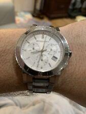 Burberry City Analog Quartz Stainless Steel Chronograph Women's Watch BU9700