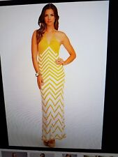 bebe chevron halter dress m. #991