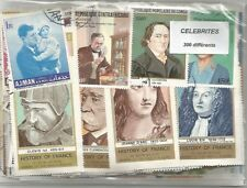 "Lot 300 timbres thematique "" Celebrités"""