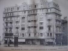 Phototypie Maison en ciment Immeuble Berthelot à Grenoble Isère