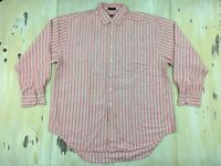 ABERCROMBIE & FITCH - Vtg Country Clothes BIG SHIRT Mens LS Pink Oxford, LARGE
