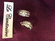Boucle d oreille Clip argent 925 Et Zirconium - 230219broc