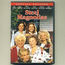 Steel Magnolias mint DVD movie Field, MacLaine, Dukakis, Parton, Hannah, Roberts