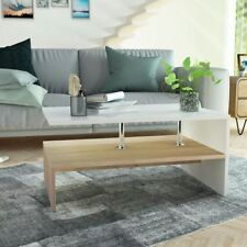 Coffee Table Chipboard 90x59x42 Cm Oak and White
