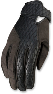 Z1R Womens Black Leather Bolt Short Cuff Motorcycle Riding Street Racing Gloves
