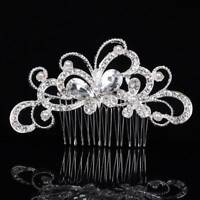 Flower Butterfly Crystal Pearls Bridal Hair Combs Women Wedding Hair Accessories