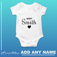 Personalised Baby Grow Vest Bodysuit Girl Or Boy Perfect Gift Custom
