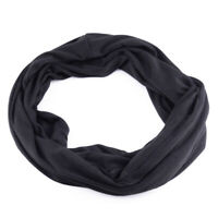 Unisex Baumwolle Infinity Schal Scarf mit Versteckte Tasche Schwarz Sicher Reise