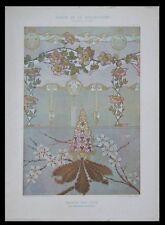 DECORS SUR CUIR, RICHARD SCHAUER -1901- LITHOGRAPHIE, ART NOUVEAU