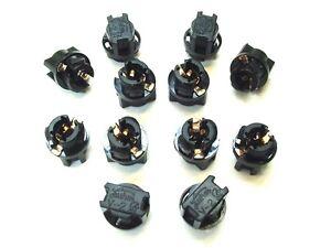 12 Pontia Instrument Panel Cluster Light Bulb LED Sockets 9mm .38 Lamp Dashboard