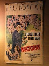 NOCTURNE movie poster FILM NOIR george RAFT lynn BARI compelling 24X36