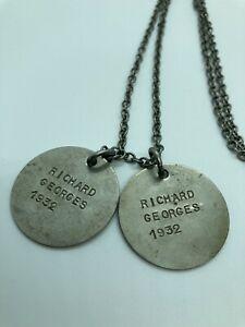 Deux anciennes médailles militaires deuxième guerre mondiale armée de l'air Ww2