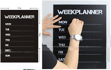 Weekly Plan Calendar Memo Chalk board Blackboard Vinyl Wall Sticker Mural Decals