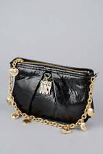 Juicy Couture BLACK LEATHER MINI BAG Charm Chain STRAP Purse Choose Juicy