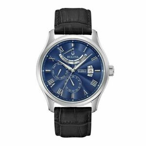 BULOVA Classic Wilton Automatic Blue Dial Mens Watch 96C142 $1299 our price $785