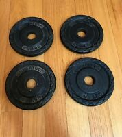 Set of 4 Very Rare Vintage 2.5 Lb Total  10lb. Jim Taylor Weight Plates 1960s