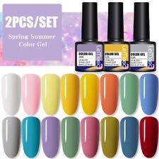 2 un./set 8ml lemooc Multi-Color Gel Soak Off Esmalte De Uñas UV Led Gel Barniz Hazlo tú mismo