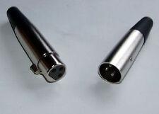 XLR PLUG & SOCKET MICROPHONE / AUDIO & POWER CONNECTOR 12v 24v mobility etc
