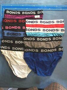 9 X Bonds mens Cotton Hipster Briefs Underwear S-L
