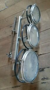 """Remo ROTO TOM set - 6, 8, 10"""" - Drum,.   Mounted but no stand."""