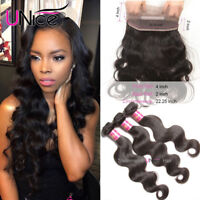 360 Lace Frontal Closure with 3 Bundles Malaysian Body Wave Human Hair Extension
