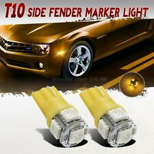 T10 Amber Front Fender Side Maker Light 5050 SMD LED Lamp Bulb 194 2825 2821