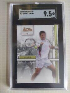 2007 Ace Authentic Novak Djokovic SGC 9.5