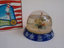 Dr Seuss Cat in the Hat  Snow Globe Official Movie Merchandise IOB Plastic 2003