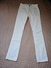 VICTORIA BECKHAM Ivory Tapered Trousers *NWOT* Size 25""