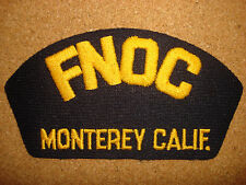 US Navy Machine Embroidered Patch: FNOC MONTEREY CALIFORNIA