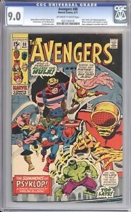 AVENGERS #88 - CGC 9.0 - 1971 / STORY BY HARLAN ELLISON / EARLY FALCON / PROF X