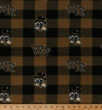 Fleece Wake Forest University Demon Deacons College Team Fabric BTY A503.64
