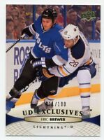 2011-12 Upper Deck ERIC BREWER #286 UD EXCLUSIVES GOLD #/100 Tampa Bay Lightning