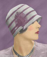 ~ Vintage 1920's Flapper Crochet Cloche Hat, Downton Abbey, Reproduction Pattern
