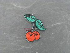 Patches Aufbügler Aufnäher KLEINE VERSION Patch Kirschen Cherry  Rockabilly