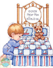Cross Stitch Kit ~ Design Works / Tobin Bedtime Bed Boy Birth Record #T21710