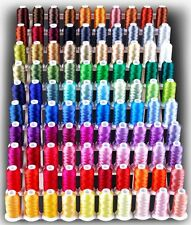NEW LARGE 120 CONES MACHINE EMBROIDERY THREADS KIT + RACK + BACKING FOR BROTHER