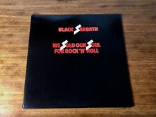 BLACK SABBATH ORIGINAL FIRST PRESS DOUBLE LP ~ WE SOLD OUR SOUL FOR ROCK N ROLL