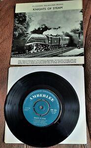 "KNIGHTS OF STEAM 1969 7"" SINGLE RAILWAY TRAINS NIGEL GRESLEY WILLIAM STANIER"