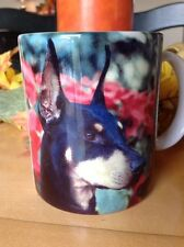 Doberman Pinscher Coffee Mug 1994 Tea Cup History Of German Dog Used
