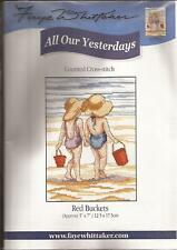 """Counted Cross Stitch All Our Yesterdays 7"""" x 5"""" Red Buckets (073-04)"""