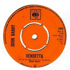 "John Barry - Vendetta  - 7"" Vinyl Record Single"