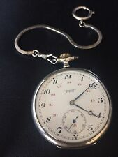 Antique LONGINES .900 Silver Pocket Watch Swiss 7 Grand Prix Ornate RUNS C:1919