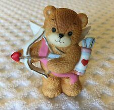 Lucy & Me Cupid Bear Enesco 1985 Valentine's Day Figurine Angel Bow & Arrow