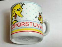 Vintage Sesame Street Porcelain Cup Big Bird ABCs