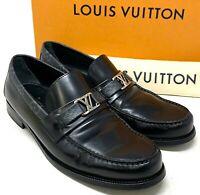 Authentic LOUIS VUITTON LV Major Loafer 2020y Monogram #9 US 9.5 Black Rank AB