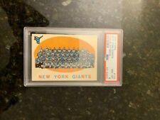 1959 Topps Football #133 GIANTS TEAM............PSA 8 NM-MT